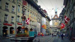 מסלול טיול בשוויץ, ברן - רחוב בעיר העתיקה