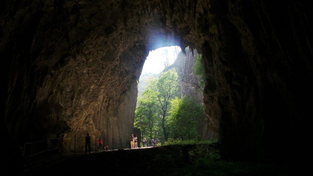 היציאה ממערת סקו'ציאן סלובניה