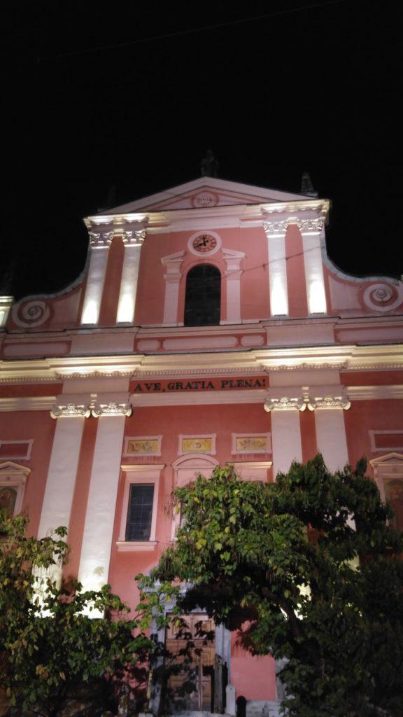 לובליאנה - הכנסיה הורודה