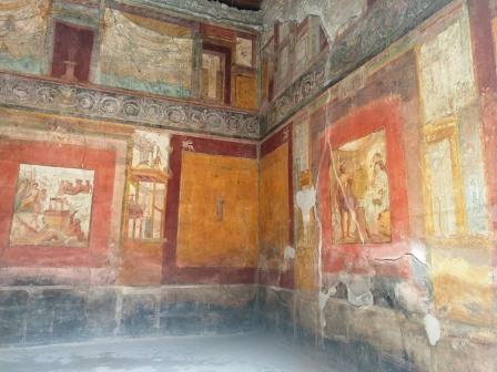 ציורי קיר ובתי אצולה בפומפיי