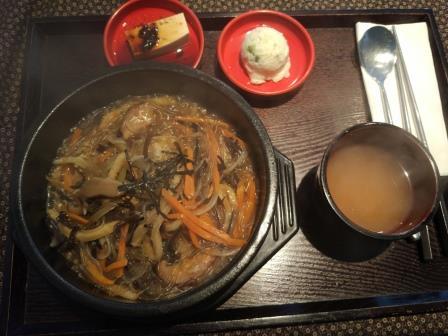 מנה במסעדה הקוריאנית- קיימברידג'